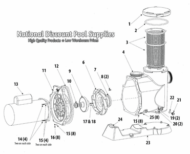 Parts for Waterway Mustang Inground Pool Pump