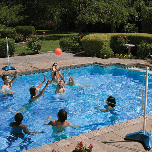 Poolmaster Across Pool Volleyball and Badminton Game Combo