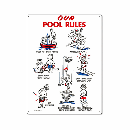 Poolmaster Our Pool Rules Pool Sign