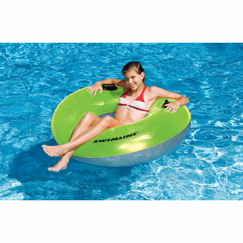 Reflective Sun Tanner Water park Style Tube with Handles by Swimline