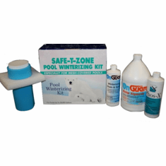 Safe-T-Zone Pool Winterizing Kit for Mesh Safety Pool Covers - Treats up to 30,000 gallons