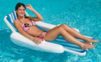 Swimline 1000 SunChaser Sling Style Floating Lounge Chair