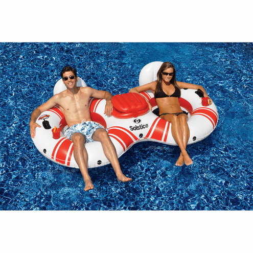 Swimline Super Chill Duo Pool Tube with Cooler