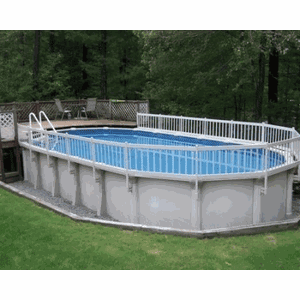 """Vinyl Works Canada 36"""" Tall Premium Resin Above Ground Pool Fence"""