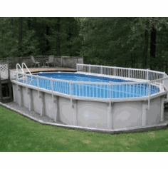 Vinyl Works Canada Premium Resin Above Ground Pool Fence