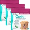 3-PACK OraVet Dental Hygiene Chews - Large Over 50 lbs (90 Count)