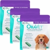 3-PACK OraVet Dental Hygiene Chews - Medium 25-50 lbs (90 Count)