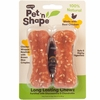 "Pet 'n Shape Long Lasting Chewz 4"" Bone (2 Pack)"