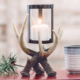 Ordinaire Antler Hurricane Candle Holder ...