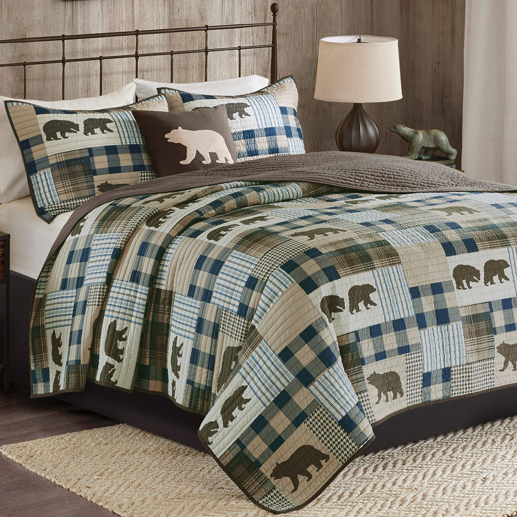 Bear Stroll Oversized Quilt Set King Cal King