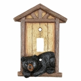Light Switch Plate /& Outlet Covers BLACK BEAR HUNTING IN WILDERNESS STREAM