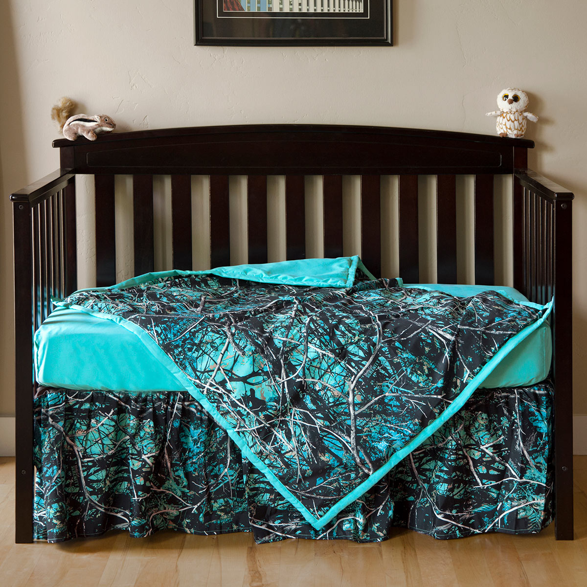 Calm Camo 3 Piece Crib Set