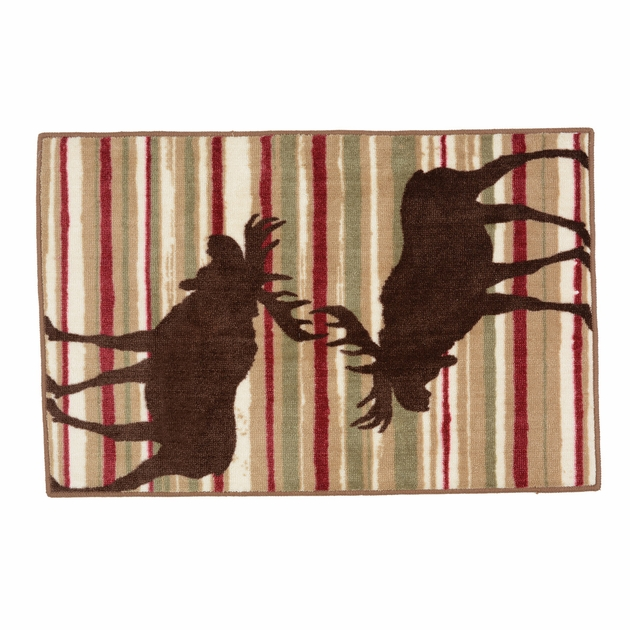 Colorful Horizon Moose Accent Rug