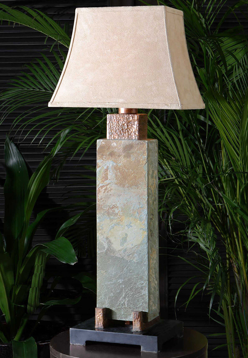 Rustic Table Lamps Copper Valley Tall Table Lamp Black
