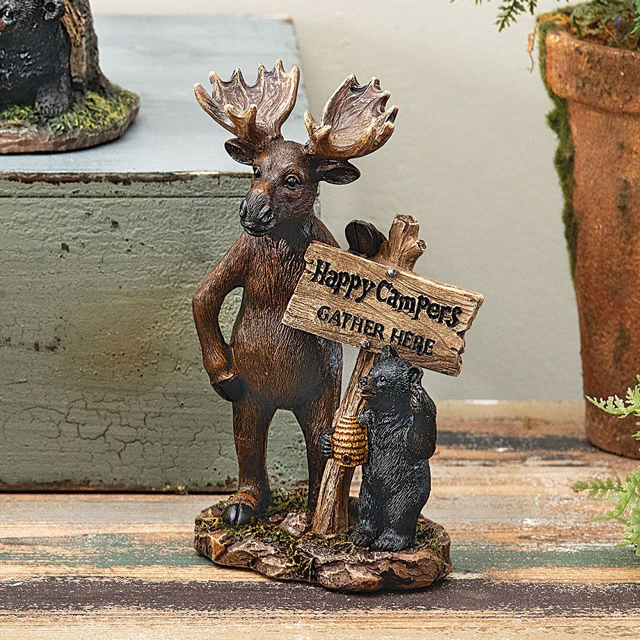 Forest Friends Moose Bear Cub Figurine Clearance