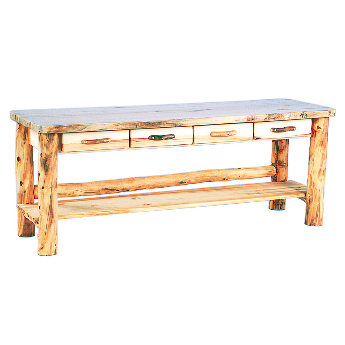 Heirloom Sofa Table with Drawers - 6 Foot