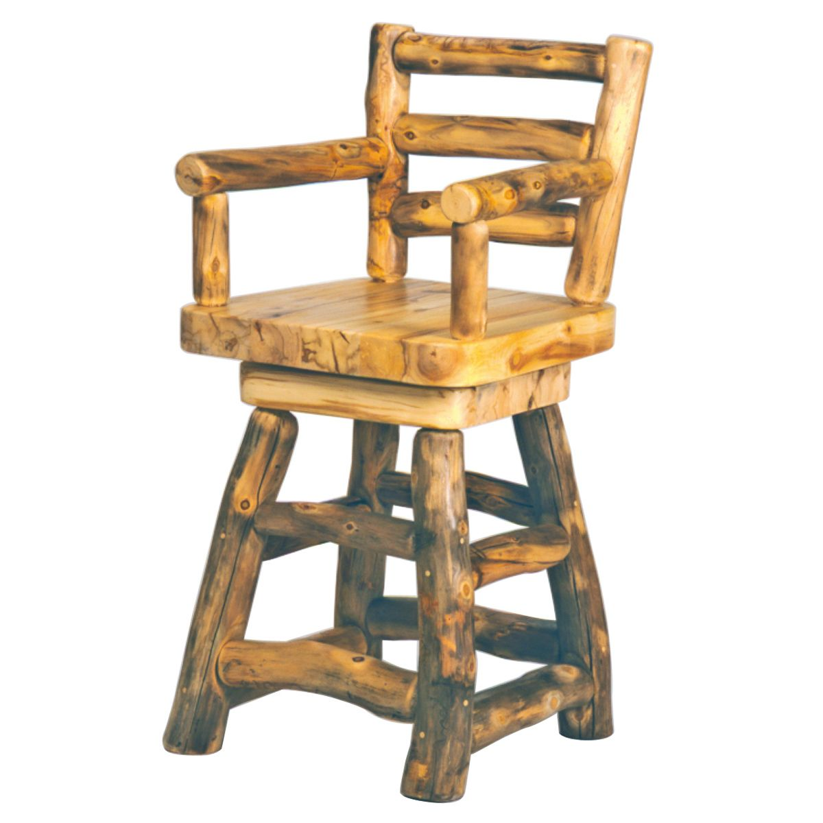 Heirloom Swivel Barstool With Back Arms