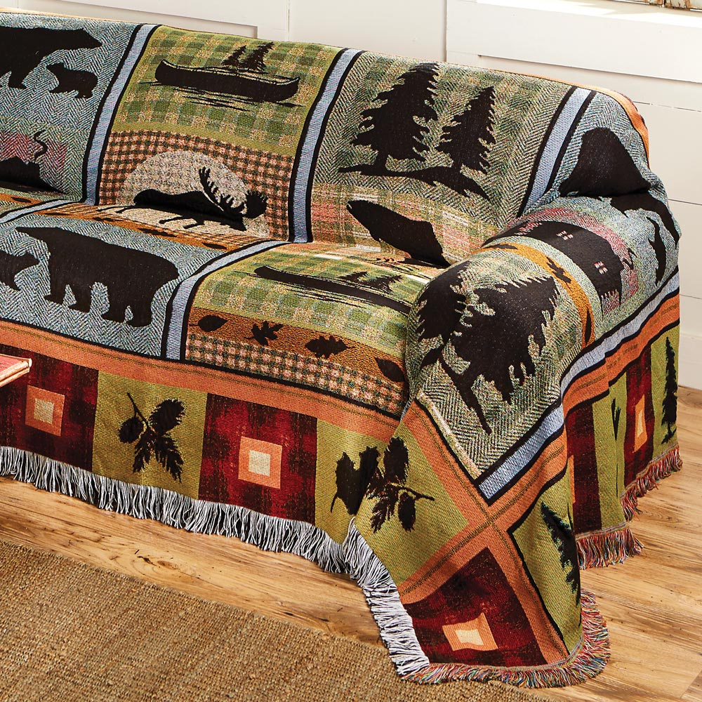 Tremendous Moose Bear Lake Tapestry Chair Cover Pabps2019 Chair Design Images Pabps2019Com