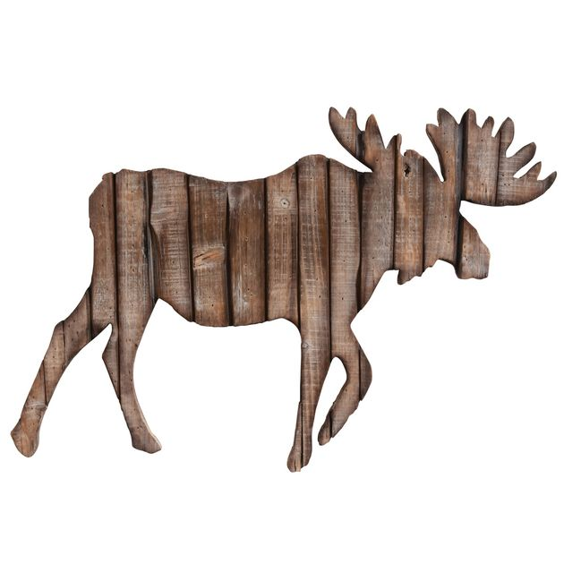 Moose Silhouette Wood Wall Art