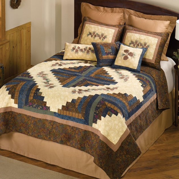Pinecone Diamond Quilt Twin