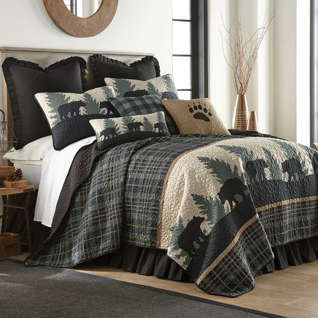 Timberland Plaid Bear Quilt King