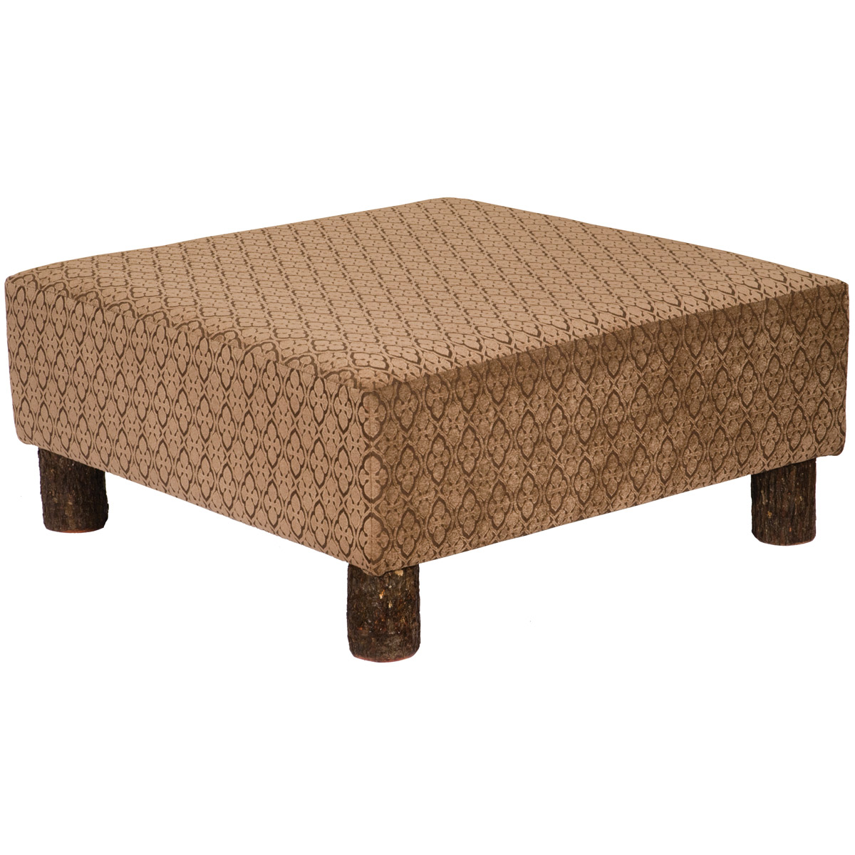 Bradley Coffee Table.Upholstered Coffee Table Ottoman With Hickory Legs Bradley Fabric Overstock
