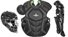 All-Star S7 Axis Solid Black Adult Catcher's Kit CKCCPRO1XSBK