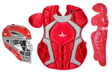 All-Star S7 Axis Scarlet Adult Catcher's Kit CKCCPRO1XSC