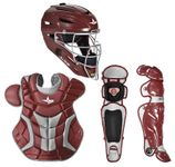 All-Star Maroon/Silver Adult System 7 Professional/College Catcher's Set CKPRO1