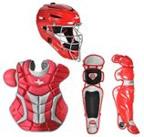 All-Star Red/Silver Adult System 7 Professional/College Catcher's Set CKPRO1