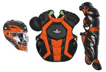 All-Star S7 Axis Two-Tone Black/Orange Adult Catching Kit CKCCPRO1XBKOR