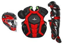 All-Star S7 Axis Two-Tone Black/Scarlet Adult Catching Kit CKCCPRO1XBKSC