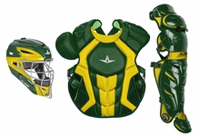 All-Star S7 Axis Two-Tone Dark Green/Gold Adult Catching Kit CKCCPRO1XDGGO