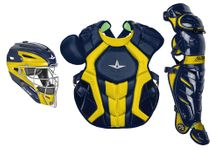 All-Star S7 Axis Two-Tone Navy/Gold Adult Catching Kit CKCCPRO1XNAGO