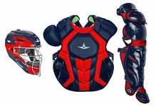 All-Star S7 Axis Two-Tone Navy/Scarlet Adult Catching Kit CKCCPRO1XNASC