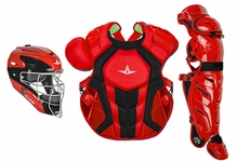 All-Star S7 Axis Two-Tone Scarlet/Black Adult Catching Kit CKCCPRO1XSCBK
