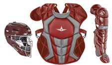 All-Star Youth Maroon Axis Pro System 7 Series Catcher's Kit CKCC912S7XMA
