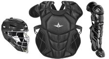 All-Star Youth Solid Black Axis Pro System 7 Series Catcher's Kit CKCC912S7XSBK