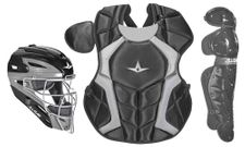 All-Star Youth Black Axis Pro System 7 Series Catcher's Kit CKCC912S7XBK