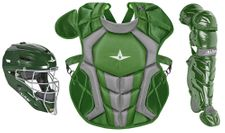 All-Star Youth Dark Green Axis Pro System 7 Series Catcher's Kit CKCC912S7XDG