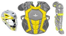 All-Star Youth Graphite/Gold Axis Pro System 7 Series Catcher's Kit CKCC912S7XGPHGO