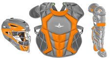 All-Star Youth Graphite/Orange Axis Pro System 7 Series Catcher's Kit CKCC912S7XGPHOR