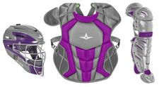 All-Star Youth Graphite/Purple Axis Pro System 7 Series Catcher's Kit CKCC912S7XGPHPU