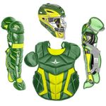 All-Star Youth S7 Axis Pro Dark Green/Gold Catcher's Set CK912S7X