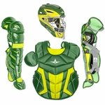 All-Star Youth S7 Axis Pro Dark Green/Gold Catcher's Set CK912S7XDGGD