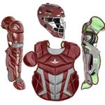 All-Star Youth S7 Axis Pro Maroon Catcher's Set CK912S7X