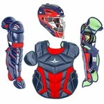 All-Star Youth S7 Axis Pro Navy/Scarlet Catcher's Gear CK912S7X
