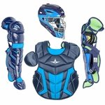 All-Star Youth S7 Axis Pro Navy/Sky Blue Catcher's Gear CK912S7X