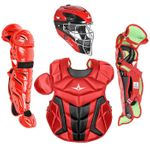 All-Star Youth S7 Axis Pro Scarlet-Black Catcher's Gear CK912S7X
