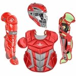 All-Star Youth S7 Axis Pro Scarlet Catcher's Gear CK912S7X